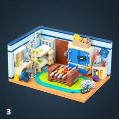 03 - Kids' room Legos, Instructions Lego, Lego Humor, Casa Lego, Lego Friends Sets, Lego Creative, Lego Furniture, Amazing Lego Creations, Lego Pictures