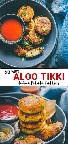 Indian Street Food - Aloo Tikki Recipe - Sandhya's Kitchen - You just cannot believe. Something simple like Aloo Tikki can be so delicious. Serve this lip-smacking Aloo Tikki { Indian Potato Cake } along with Indian Masala Chai. Vegan Indian Recipes, Healthy Recipes, Vegetarian Recipes, Cooking Recipes, Simple Indian Recipes, Indian Food Vegetarian, Indian Potato Recipes, Healthy Food, Raw Food
