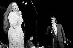 Johnny Cash with wife June Carter live at Wembley Conference Centre London