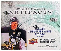 2012-13 Upper Deck Artifacts Hockey Cards Hobby Box - Holiday Super Saver!! $89.95