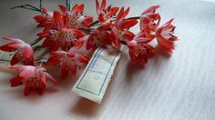 Coral Red Silk Millinery Flowers for Bridal, Boutonnieres, Hats, Corsages, Wrists, Bouquets MF62