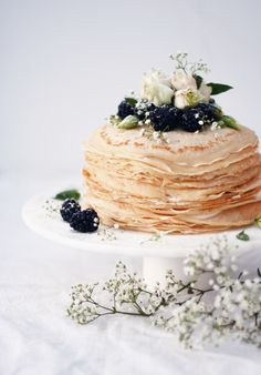 Food photography | crepecake | stefaniefink.com Fabulous Foods, Panna Cotta, Food Photography, Drink, Cake, Ethnic Recipes, Desserts, Food Food, Tailgate Desserts