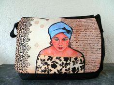 Collegetasche / Taschenkunst von mARTina haussmann auf DaWanda.com