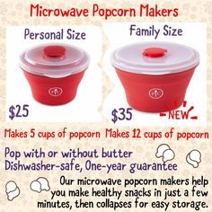 Pampered Chef's microwave popcorn popper makes healthy snacks in minutes, without the extra cost, chemicals, and calories in bags. You'll love how easy it is! Pampered Chef Popcorn Maker, Pampered Chef Catalog, Microwave Popcorn Maker, Pampered Chef Party, Pampered Chef Recipes, Pampered Chef Products, Sous Vide Cooking, Easy Cooking, Chef Images