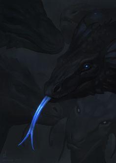 Toç Khraóga ,Pálar Róina ( Black Dragon ,Blue Tongue )