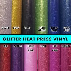 "4 rolls 8"" Glitter Flex Ultra Heat Press thermal transfer vinyl, T- Shirt Vinyl, for crafts or sign cutters"