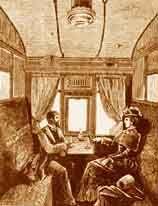 Intérieur d'un wagon de 1ere classe
