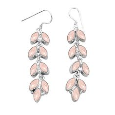 5.40ctw Genuine Rainbow Moonstone /& 925 Silver Plated Dangle Earrings