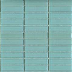 Glass subway tile 1x4 blue Pool tile perfect for any tile backsplash ideas