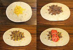 Burritos de carne picada, fáciles y muy sanos - Recetín