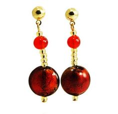 35.00 EUR Frida Earrings gold and red
