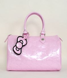 - HELLO KITTY BABY PINK PATENT EMBOSSED CITY BAG LOUNGEFLY OFFICIAL WEBSITE   http://www.loungefly.com/Products/Accessories/Bags/HELLO_KITTY_BABY_PINK_PATENT_EMBOSSED_CITY_BAG.php