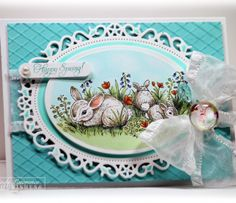 Welcome to Flourishes | Papercrafting | Cardmaking | Exclusive Clear Polymer Stamps | Spring Bunnies!
