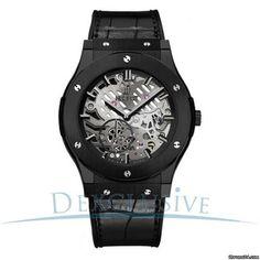 Hublot Classic Fusion Classico Men's Ultra-Thin All Black Manual Watch - 515.CM.0140.LR
