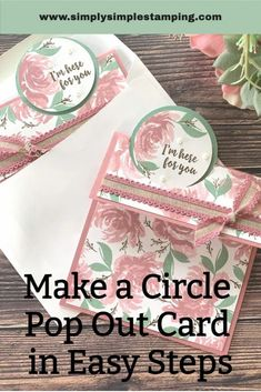 Card Making Tips, Card Making Tutorials, Fancy Fold Cards, Folded Cards, Pop Up Cards, Cool Cards, Homemade Birthday Cards, Homemade Cards, Interactive Cards
