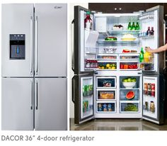Dacor DTF364SIWS Distinctive 4 French Doors Refrigerator in Stainless Steel | French door refrigerator Refrigerator and Doors & Dacor DTF364SIWS Distinctive 4 French Doors Refrigerator in ... pezcame.com