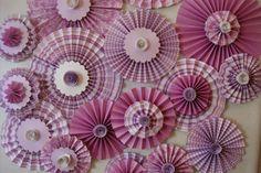 Rosette Pleated Paper Flowers set of 18 by SweetPeaPaperFlowers