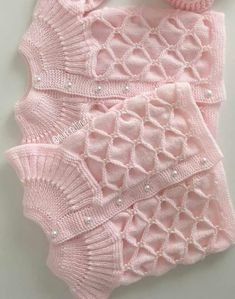 Different And Stylish Baby Vest Models – Knitting And We Easy Knitting Patterns, Knitting Designs, Baby Patterns, Free Knitting, Baby Knitting, Baby Cardigan, Knit Baby Dress, Knit Vest, Knit Baby Sweaters
