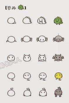 一个圆圈画出45种动物,教孩子画画就是这么简单!