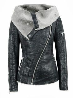 Long Sleeves Open Face Leather Jacket by Mariya pp