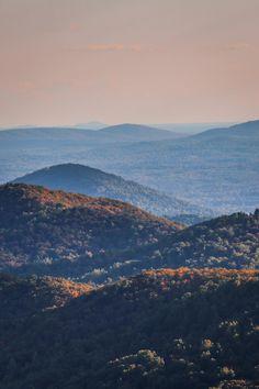 Fall landscape in Shenandoah National Park, Virginia, USA