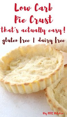 Low Carb Keto Almond Flour Pie Crust - My PCOS Kitchen This super easy low carb pie crust is made with almond flour and coconut flour. It can be no bake or baked and it's totally diabetic friendly. It's a super easy recipe to make and Gluten Free Pastry, Gluten Free Baking, Low Carb Pie Crust, Pie Crusts, Coconut Flour Pie Crust, Crust Recipe, Low Carb Desserts, Healthy Desserts, Diabetic Friendly