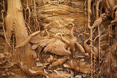 El exquisito detalle del tradicional tallado en madera de Dongyang - POP-PICTURE