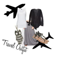 """""""Travel Outfit"""" by kynthia2007 on Polyvore"""