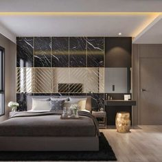 Men's dream bedroom
