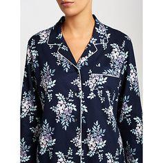 Buy John Lewis Leyla Floral Pyjama Set, Blue Online at johnlewis.com