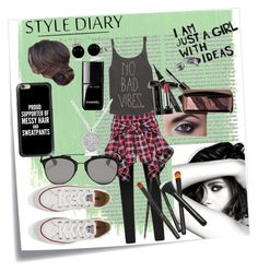"""""""Booktubebelover 7 #3"""" by sakura-grizzy ❤ liked on Polyvore featuring Post-It, Oris, Chanel, Billabong, Christian Dior, Bobbi Brown Cosmetics, Yves Saint Laurent, Marc Jacobs, Hourglass Cosmetics and Converse"""