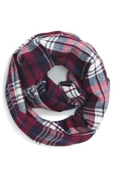 BP. 'Heritage' Plaid Infinity Scarf available at #Nordstrom