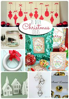 Great Ideas -- 21 DIY Christmas Projects! ---Tatertots and Jello #christmas #christmasideas #DIY