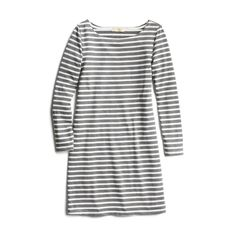 I'm looking for a boatneck striped dress like this, but not gray, and with pockets. Maybe navy? Red? Yellow?