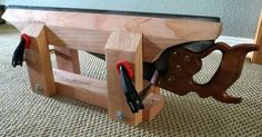 Simple bench top saw vise