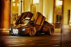 "Munich-based designer Seungmo Lim created this striking new vehicle concept for BMW. ""The design of the BMW Vision Vehicle is characterised by a blend of coupé-type sportiness and the dynamic elegance of a sedan. At 4.90 meters long and 1.37 meters high, it has compact exterior dimensions. Inside, however, it has the dimensions of a luxury BMW sedan. The large wheels are positioned at the outer edges of the body, giving the vehicle the dynamic stance that is a trademark of BMW. When ..."