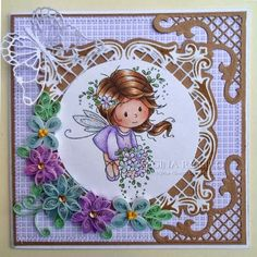 Wee Stamps Flower Fairy.