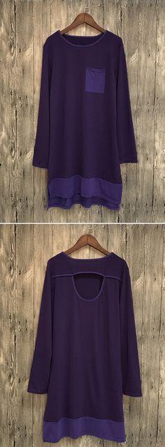Casual Long Sleeve Loose Shirt Dress