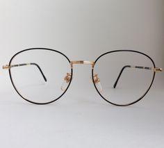 7a81b5e96bd61 Vintage Philipcon Black Gold Granite Metal Glasses Frame by ENGARLAND on Etsy  Vintage Frames