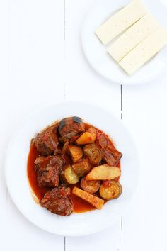 Mosharaki me lahanika, Greek beef stew with vegetables