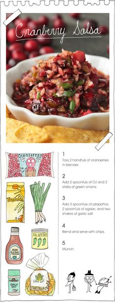 Cranberry Salsa - - yes i need another fruit salsa - - Okay didn't really follow the recipe very much but good concept and turned out really good.