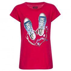 Converse Mädchen T-Shirt 3868 Berry Pink