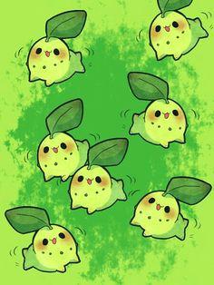 Adorable Chikorita digital art: by Meyly Cute Pokemon Wallpaper, Cute Wallpaper Backgrounds, Mobile Wallpaper, Cute Wallpapers, Pokemon Memes, All Pokemon, Pokemon Fan, Chibi, Pokemon Starters