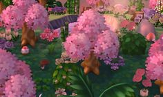 pink and green, glow, tropical fairy tale
