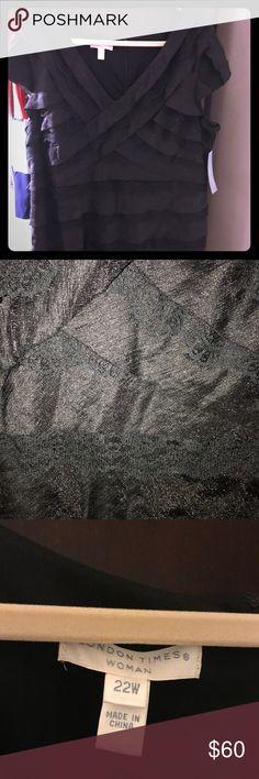 BNWT black layered dress BNWT Black ruffled layered dress. Never worn. Purchased at Belk department store Dresses