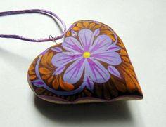 Albrije heart pendant handmade Oaxaca / Alebrije pendiente de