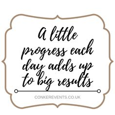 Complete a little task each day to help reach your goals! Wedding Planning Quotes, Motivational Quotes, Inspirational Quotes, Conkers, What Inspires You, Deep Thoughts, Inspire Me, Life Lessons, Best Quotes