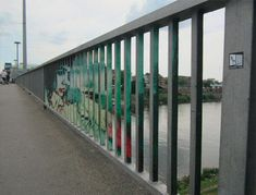 Secret Graffiti: Railings Reveal Art Only at the Right Angle