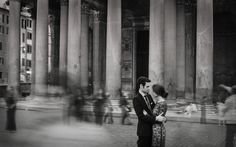 Engagement Photo at the Pantheon - In Love In Italy Photography - via Elizabeth Anne Designs @amiatead