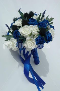 Midnight blue and white bouquet